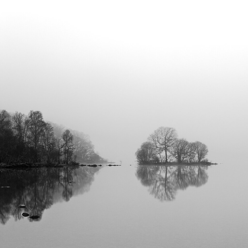 Early morning mist Loch Lomond