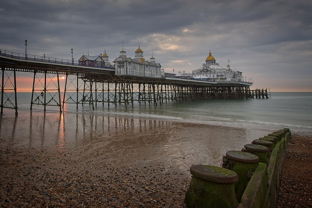 Eastbourne beach and pier